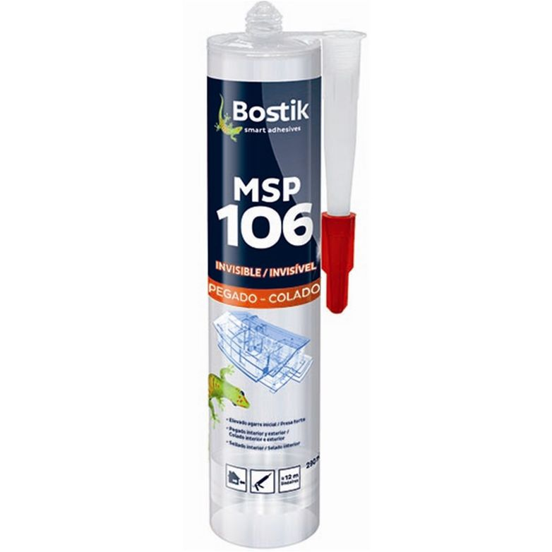 BOSTIK ADHESIVO SELLADOR MS 106 EXPRESS TRANSPARENT CR 290ML