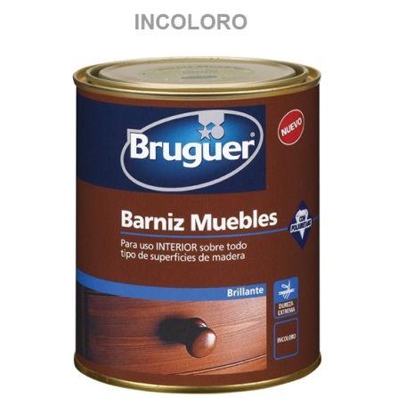 BRUGUER BARNIZ SINTETICO BRILLANTE MUEBLES INCOLORO 750ML