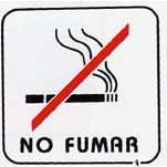 CARTEL NO FUMAR PLACA ALUMINIO P3