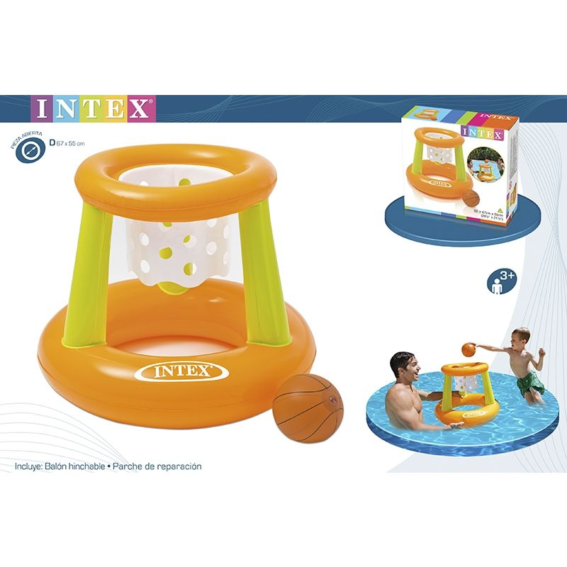 Intex canasta baloncesto hinchable para piscina 67x55cm for Piscina hinchable jardin