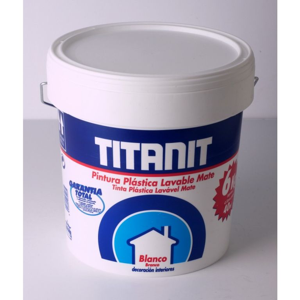 TITAN PINTURA PLASTICA INTERIOR TITANIT BLANCA 10LT 029190011