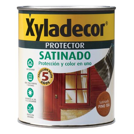 XYLADECOR PROTECTOR PARA MADERA SATINADO NOGAL 3 EN 1 750ML XYLADECOR